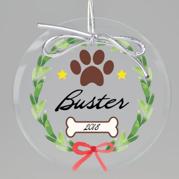 Deck the Paws Keepsake Printed Ornament