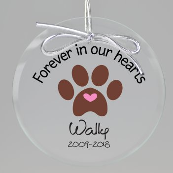 Furever Memorial Keepsake Printed Ornament