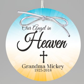 Angel in Heaven Keepsake Printed Ornament