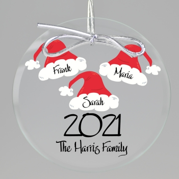 Santa Hat Keepsake Printed Ornament