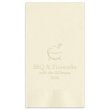Independence Guest Towel - Embossed