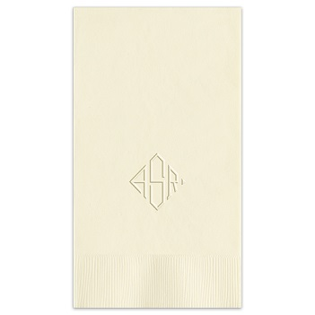 Delavan Monogram Guest Towel - Embossed