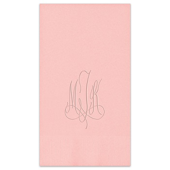 Roberta Monogram Guest Towel - Embossed