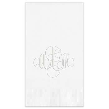 Firenze Monogram Guest Towel - Embossed