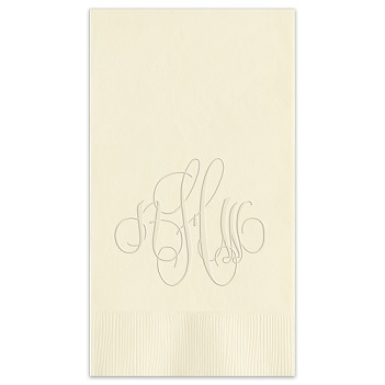 Elise Monogram Guest Towel - Embossed