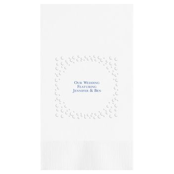 Lavish Embossed-Frame Guest Towel - Foil-Pressed
