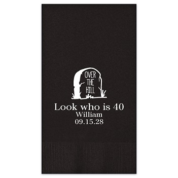 Birthday Guest Towel - Foil-Pressed