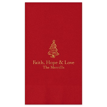 Christmas Guest Towel - Foil-Pressed
