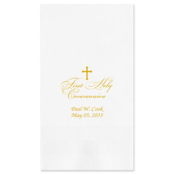 First Holy Communion Guest Towel - Foil-Pressed
