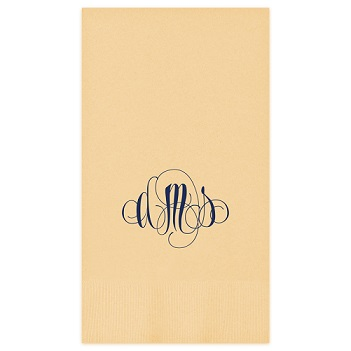 Firenze Monogram Guest Towel - Foil-Pressed