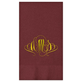 Madrid Monogram Guest Towel - Foil-Pressed