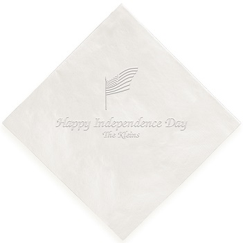 Independence Napkin - Embossed