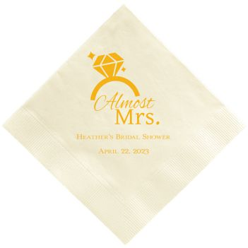 Almost Mrs Napkin - Foil-Pressed