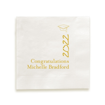 Pomp and Circumstance Napkin - Foil-Pressed