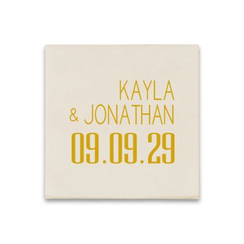 Soho Wedding Coaster Napkin - Raised Ink
