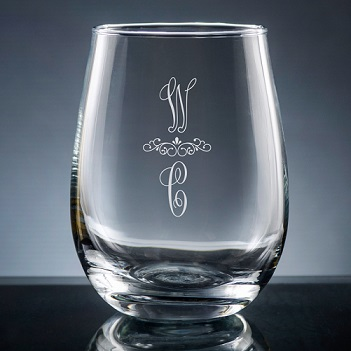 Pareja Stemless Wine Glass
