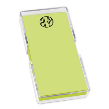 Delavan Monogram Mini List - Carnival with holder