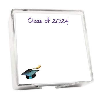 Graduate Memo Square - White with holder