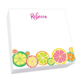 Botanical Fruit Memo Square - White Refill