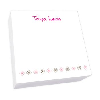 Flower Power Memo Square - White Refill