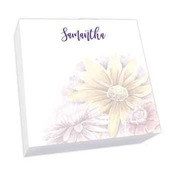 Watercolor Sunflowers Memo Square - White Refill