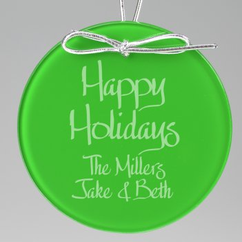 Holiday Keepsake Ornament - Circle