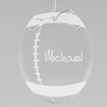 Football Keepsake Ornament - Oval