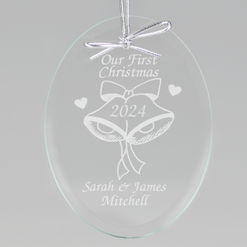 Our First Christmas Keepsake Ornament - Oval