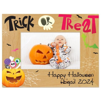 Trick or Treat Printed Picture Frame