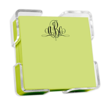 Delavan Monogram Petite Square - Carnival with holder