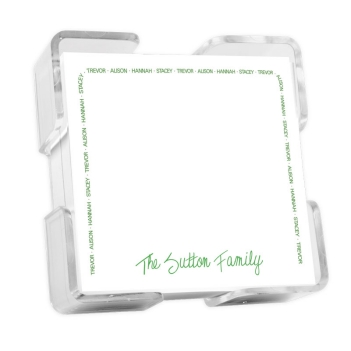 Family Arch Petite Square - White with holder
