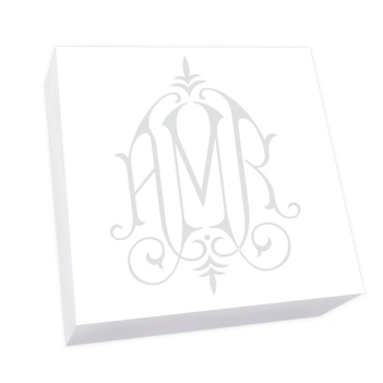 Henley Watercolor Monogram Petite Square - White REFILL