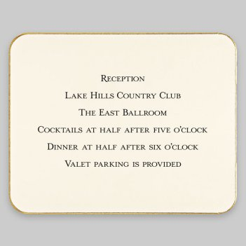 LaTour Reception Card - Raised Ink