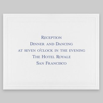 Tradition Reception Card - Raised Ink