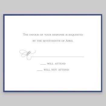 Navy Silhouette Response Card - Raised Ink