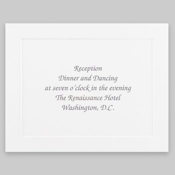 Knightsbridge Reception Card - Raised Ink