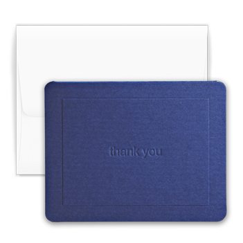 Navy Thank You Note - Double Thick