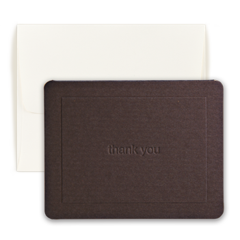 Mocha Thank You Note - Double Thick