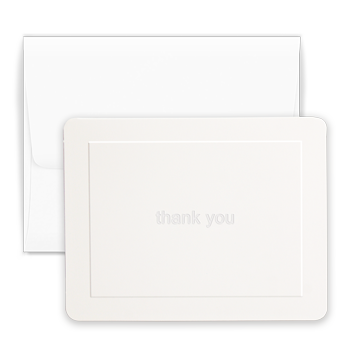White Thank You Note - Triple Thick