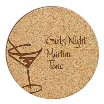 Martini Cork Coaster