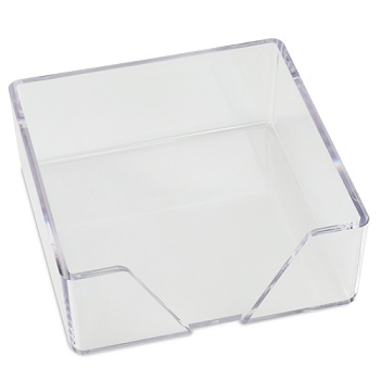 CrystalClear Memo Square Holder