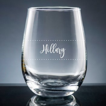Wine Diva Printed Stemless Wine Glass