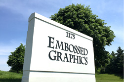 Embossed Graphics sign