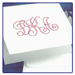 Antique Monogram Note - Single Thick