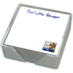 Family Photo Memo Square Right Corner with holder