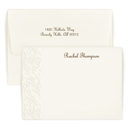 Damask Embossed Card