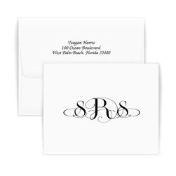 Roma Monogram Note - Double Thick