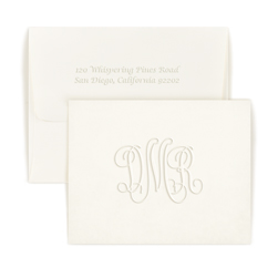 Traditional Monogram Note - Single Thick