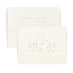 Double Thick Paris Monogram Note