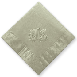 Embossed Monogram Napkins